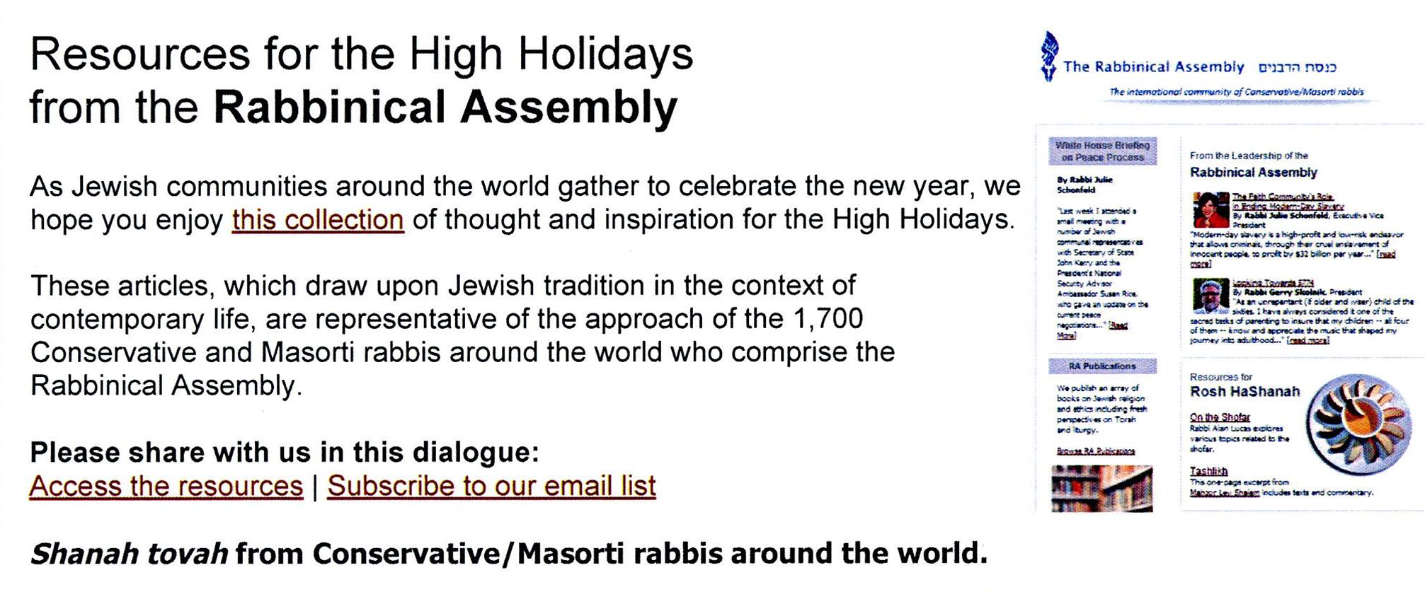 Rabbinical Assembly