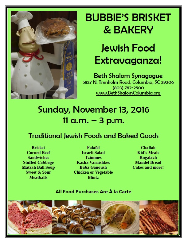 Bubbie's Brisket & Bakery Flyer - 2016