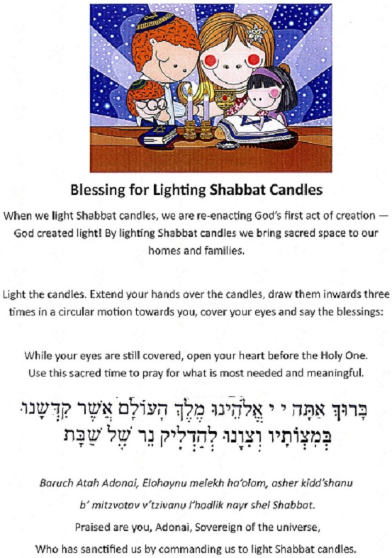 Blessing for Lighting Shabbat Candles