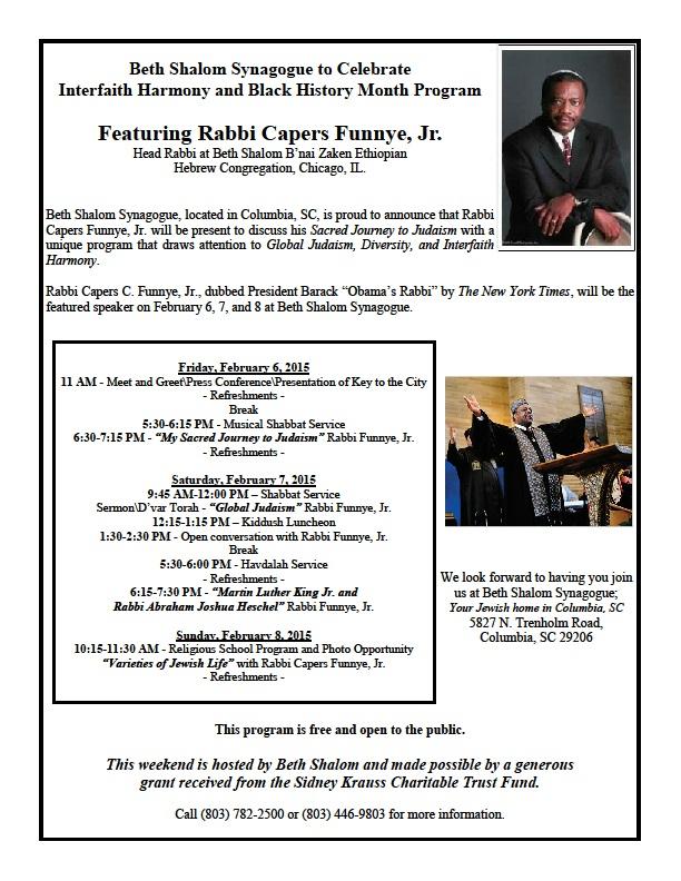 Rabbi Capers Funnye Flyer - FINAL
